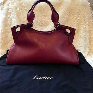Cartier Marcello Bordeaux Leather Handbag